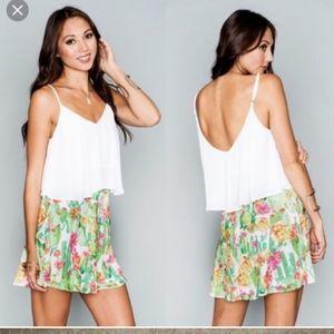 Show me your mumu floral cactus Pippa skirt large